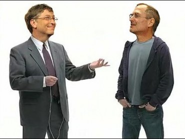 Bill Gates v Steve Jobs