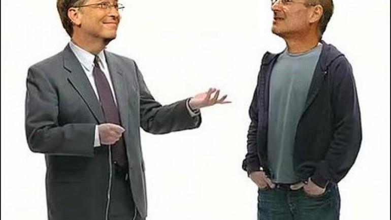 Bill Gates v Steve Jobs