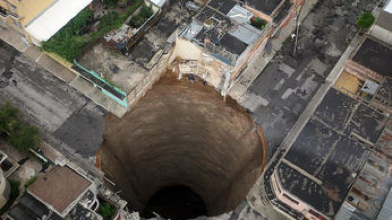 Swallowed By A Sink Hole